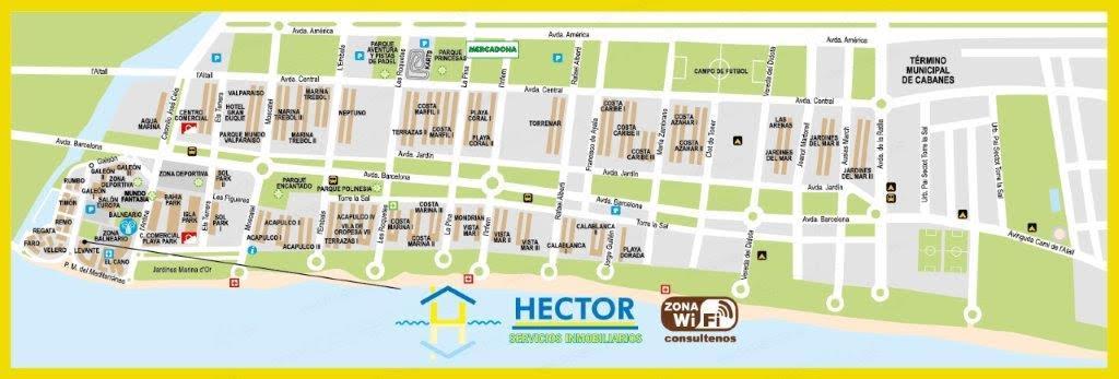 marina d or mapa Alquiler y Venta de Apartamentos en Marina D'or   Oropesa del Mar  marina d or mapa